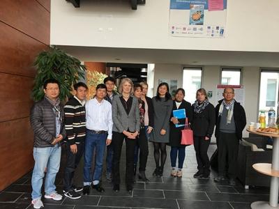 Une délégation internationale universitaire du Cambodge, du Myanmar et du Vietnam dans nos murs