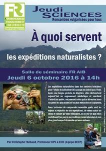 C. THEBAUD - A quoi servent les expéditions naturalistes ?