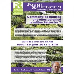 P.-M. DELAUX - Comment les plantes ont-elles colonisé le milieu terrestre ?