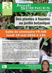 N. SEJALON-DELMAS - Des plantes à fourmis au jardin botanique