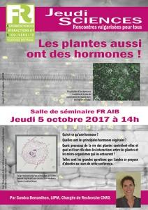 S. BENSMIHEN - Les plantes aussi ont des hormones !