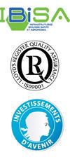 Logos IBISA, ISO9001, Inv.Avenir